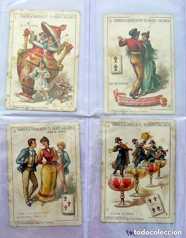 Barajas de cartas: Baraja Chocolates EL BARCO - La grande, tamaño 11,5x8 - COMPLETA, 48 cartas - Ver fotos interiores - Foto 5 - 150111306