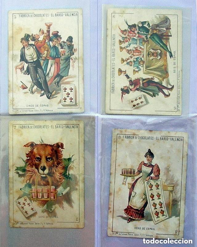 Barajas de cartas: Baraja Chocolates EL BARCO - La grande, tamaño 11,5x8 - COMPLETA, 48 cartas - Ver fotos interiores - Foto 6 - 150111306