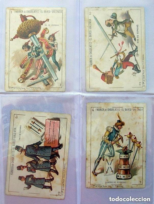 Barajas de cartas: Baraja Chocolates EL BARCO - La grande, tamaño 11,5x8 - COMPLETA, 48 cartas - Ver fotos interiores - Foto 8 - 150111306