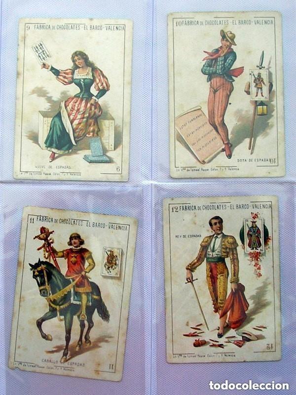 Barajas de cartas: Baraja Chocolates EL BARCO - La grande, tamaño 11,5x8 - COMPLETA, 48 cartas - Ver fotos interiores - Foto 10 - 150111306