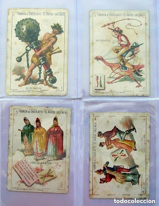 Barajas de cartas: Baraja Chocolates EL BARCO - La grande, tamaño 11,5x8 - COMPLETA, 48 cartas - Ver fotos interiores - Foto 11 - 150111306