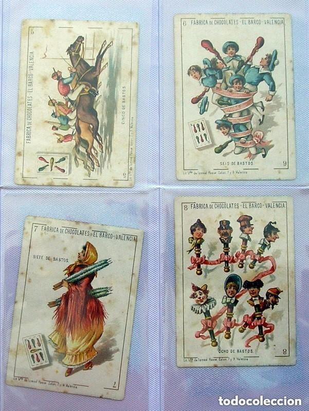 Barajas de cartas: Baraja Chocolates EL BARCO - La grande, tamaño 11,5x8 - COMPLETA, 48 cartas - Ver fotos interiores - Foto 12 - 150111306
