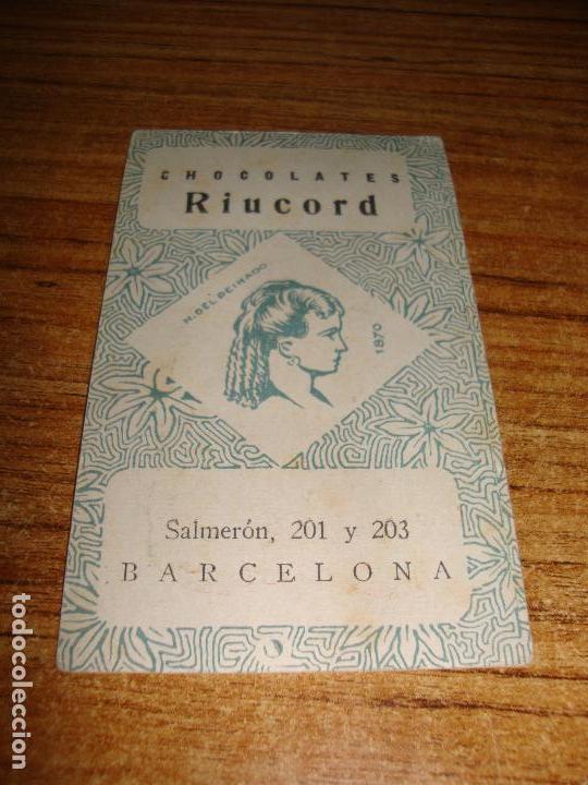Barajas de cartas: NAIPE CARTA CROMO CHOCOLATES RIUCORD 10 BASTOS CHARLOT - Foto 2 - 150111362