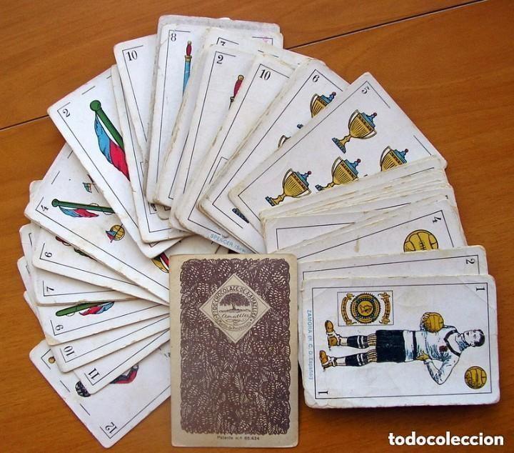 BARAJA FÚTBOL, FUTBOLISTAS, FUTBOLISTICA - COMPLETA, 48 CARTAS - CHOCOLATE AMATLLER - VER FOTOS (Juguetes y Juegos - Cartas y Naipes - Baraja Española)