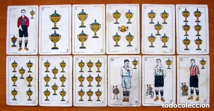 Barajas de cartas: Baraja Fútbol, futbolistas, futbolistica - Completa, 48 cartas - Chocolate Amatller - ver fotos - Foto 3 - 150114174