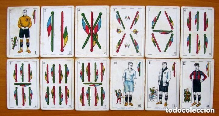 Barajas de cartas: Baraja Fútbol, futbolistas, futbolistica - Completa, 48 cartas - Chocolate Amatller - ver fotos - Foto 5 - 150114174