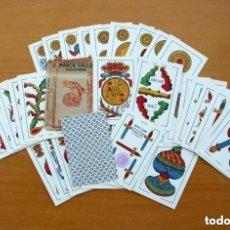 Barajas de cartas: BARAJA NAIPES COMAS 1947 MARCA GALLO - COMPLETA 40 CARTAS - VER FOTOS INTERIORES. Lote 150116402