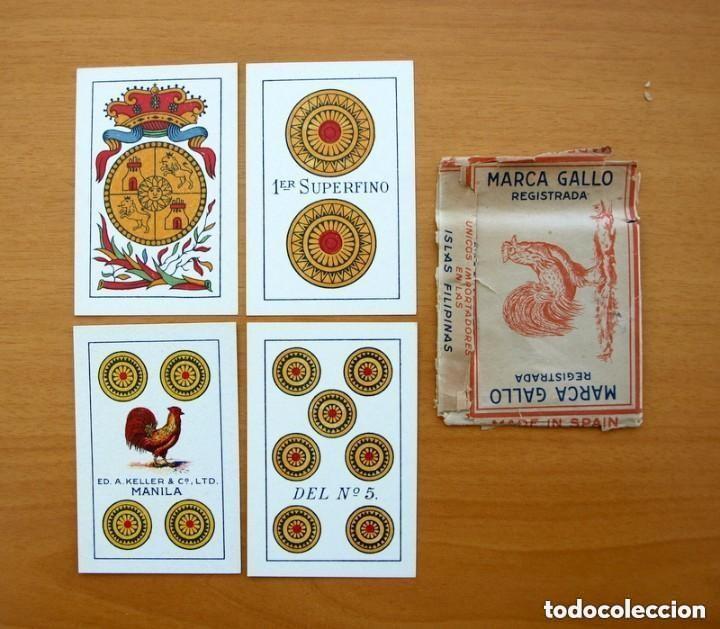 Barajas de cartas: Baraja Naipes Comas 1947 marca Gallo - Completa 40 cartas - Ver fotos interiores - Foto 2 - 150116402