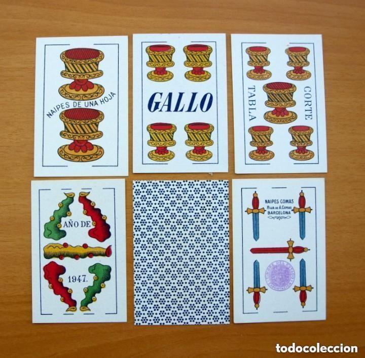 Barajas de cartas: Baraja Naipes Comas 1947 marca Gallo - Completa 40 cartas - Ver fotos interiores - Foto 4 - 150116402
