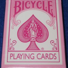 Barajas de cartas: BARAJA DE POKER BICYCLE - ROSA ¡PRECINTADA!. Lote 150147862