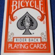 Barajas de cartas: BARAJA DE POKER BICYCLE - NARANJA ¡PRECINTADA!. Lote 150147914