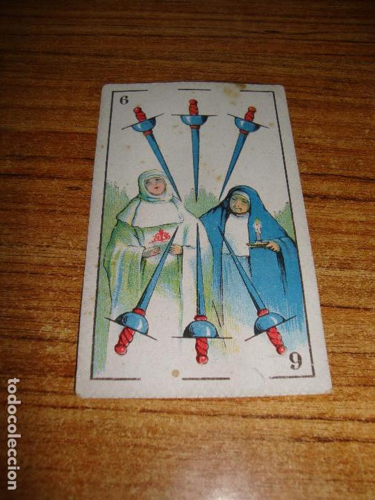 NAIPE CARTA CROMO CHOCOLATES EVARISTO JUNCOSA 6 ESPADAS (Juguetes y Juegos - Cartas y Naipes - Otras Barajas)
