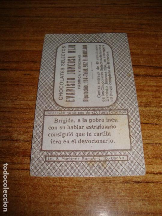Barajas de cartas: NAIPE CARTA CROMO CHOCOLATES EVARISTO JUNCOSA 6 ESPADAS - Foto 2 - 150182054