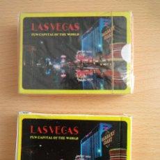 Barajas de cartas: LOTE 2 BARAJAS DE PÓKER LAS VEGAS (LAS VEGAS, 1997). Lote 150277050