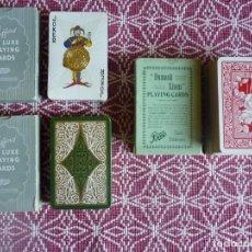 Barajas de cartas: TRES BARAJAS DE POKER VINTAGE. 2 MARCA RUFFORD . INGLESAS. FINALES AÑOS 50. Lote 150351982