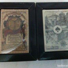 Barajas de cartas: CONSTITUCIÓN DE CÁDIZ (ESPAÑOLA) Y BARAJA IMPERIAL FRANCIA 1860 (POKER) -REPRODUCCIONES AÑO 2004. Lote 150365170