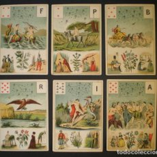 Barajas de cartas: GRAND JEU DE MADEMOISELLE LENORMAND. BARAJA ADIVINATORIA COMPLETA: 54 CARTAS 13X9. SELLO DE 1890. Lote 150472142