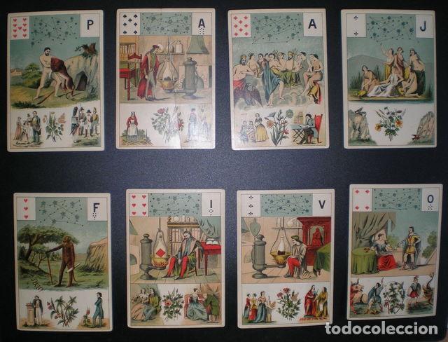 Barajas de cartas: GRAND JEU DE MADEMOISELLE LENORMAND. Baraja adivinatoria completa: 54 cartas 13x9. Sello de 1890 - Foto 3 - 150472142