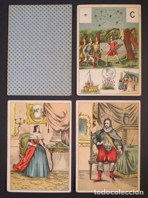 Barajas de cartas: GRAND JEU DE MADEMOISELLE LENORMAND. Baraja adivinatoria completa: 54 cartas 13x9. Sello de 1890 - Foto 4 - 150472142