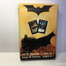 Barajas de cartas: BARAJA JUEGO DE FAMILIAS BATMAN BEGINS. Lote 150615238