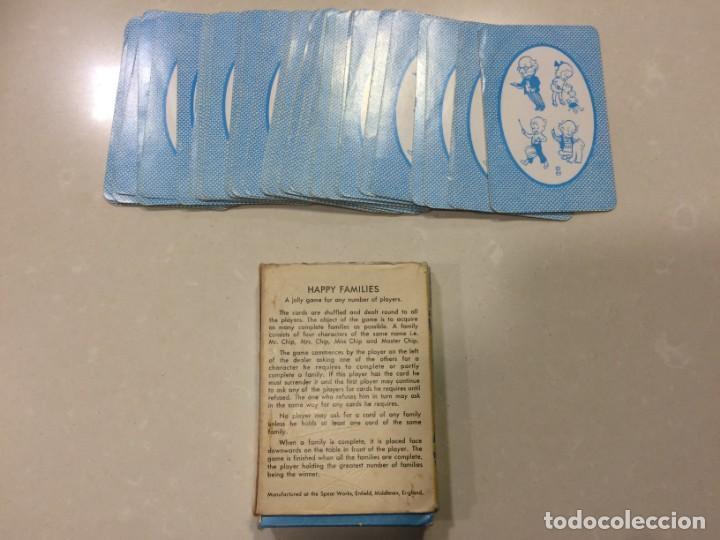 Barajas de cartas: Happy Families Card Game ~ Spears Games - Fabricado en Inglaterra - Vintage - Foto 3 - 150664150