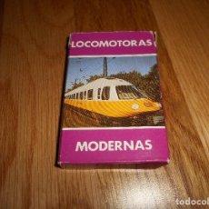 Barajas de cartas: BARAJA DE CARTAS LOCOMOTORAS MODERNAS-HERACLIO FOURNIER AÑOS 80. Lote 150790514
