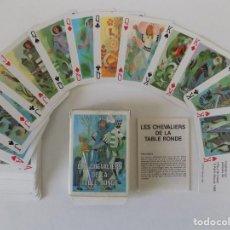 Mazzi di carte: LIBRERIA GHOTICA. BARAJA DE CARTAS LES CHEVALIERS DE LA TABLE RONDE. 1980.BAPTISTE PAUL GRIMAUD.. Lote 151014678