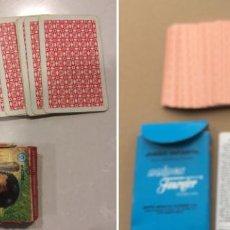 Barajas de cartas: FAMILIAS DE 7 PAISES - DOS BARAJAS - ORIGINAL AÑOS 60 Y REEDICION - COMPLETAS. Lote 151192390