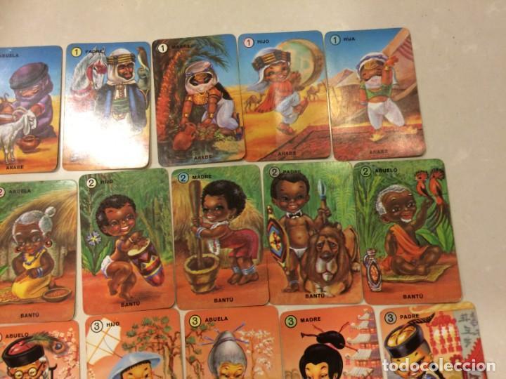 Barajas de cartas: Familias de 7 paises - Dos barajas - Original años 60 y reedicion - Completas - Foto 5 - 151192390