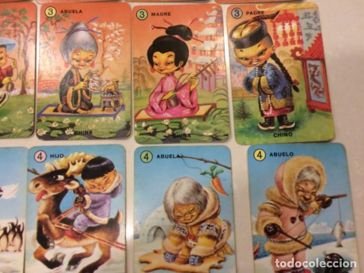 Barajas de cartas: Familias de 7 paises - Dos barajas - Original años 60 y reedicion - Completas - Foto 6 - 151192390