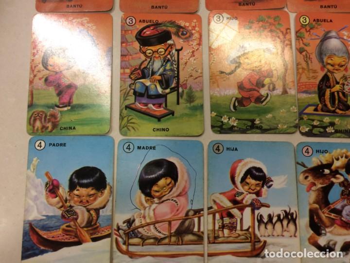 Barajas de cartas: Familias de 7 paises - Dos barajas - Original años 60 y reedicion - Completas - Foto 7 - 151192390