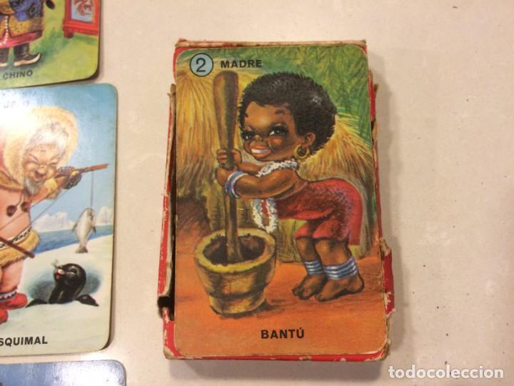 Barajas de cartas: Familias de 7 paises - Dos barajas - Original años 60 y reedicion - Completas - Foto 12 - 151192390