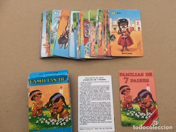 Barajas de cartas: Familias de 7 paises - Dos barajas - Original años 60 y reedicion - Completas - Foto 15 - 151192390