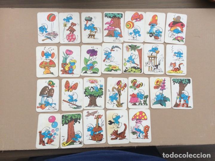 26 CARTAS DE LA BARAJA DE LOS PITUFOS DE ERSA - EDICIONES RECREATIVAS (Juguetes y Juegos - Cartas y Naipes - Barajas Infantiles)