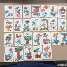 Barajas de cartas: 26 CARTAS DE LA BARAJA DE LOS PITUFOS DE ERSA - EDICIONES RECREATIVAS. Lote 151207318
