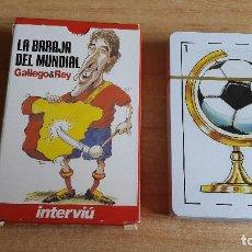 Barajas de cartas: BARAJA CARTAS - LA BARAJA DEL MUNDIAL - GALLEGO & REY - INTERVIU - FUTBOL - NUEVA CON PRECINTO. Lote 151207534