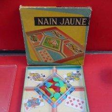 Barajas de cartas: NAIN JAUNE...JUEGO DE CARTAS, INCOMPLETO PARA APROVECHAR..RARO...AÑOS 60..CAJA ORIGINAL.. Lote 151231146