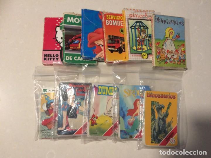 Barajas de cartas: Lote de 11 barajas infantiles incompletas - Foto 2 - 151269490