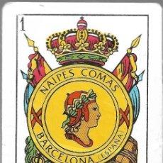 Barajas de cartas: NAIPES COMAS, BARAJA NUM. 3-S. COLOR ROJO. VER FOTOS.. Lote 151306538