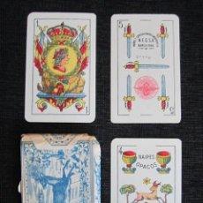 Barajas de cartas: BARAJA COMPLETA COMAS ANGELITO N.E.G.S.A. BARCELONA. 1940. 40 NAIPES. ESTUCHE ORIGINAL.. Lote 151358934