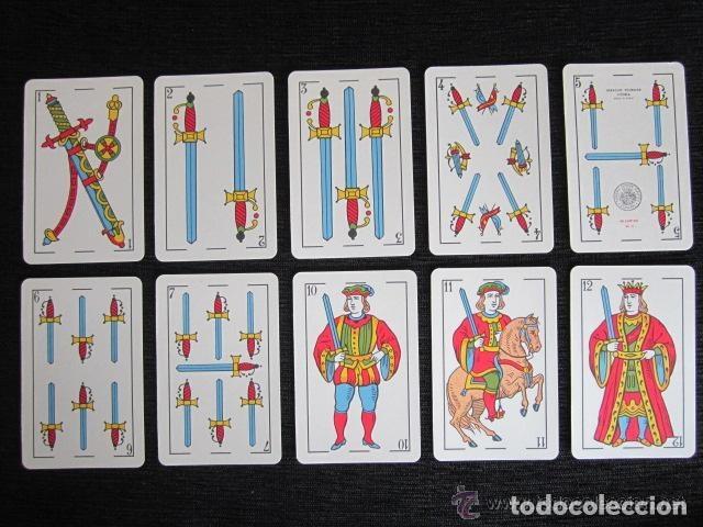 Barajas de cartas: BARAJA COMPLETA FOURNIER. MARCA TITI. VITORIA. 1962. 40 NAIPES. ESTUCHES ORIGINAL. - Foto 6 - 151359670