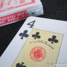 Barajas de cartas: BARAJA COMPLETA HIJA DE BRAULIO FOURNIER. POKER Nº52. 2 JOKERS. BURGOS 1962. 54 NAIPES. ESTUCHE. Lote 151360230