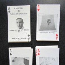 Barajas de cartas: BARAJA COMPLETA GERARDO DIEGO POESÍA EXPERIMENTAL. COMPLETA CON CAJA Y DOCUMENTACIÓN. AÑO 1988.. Lote 151364414