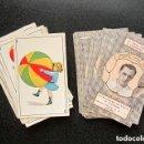 Barajas de cartas: ANTIGUA BARAJA NIÑOS Y FÚTBOL. REVERSO FUTBOLISTAS. PUBLICIDAD VINO. COMPLETA 40 NAIPES. AÑOS 30.. Lote 151370666