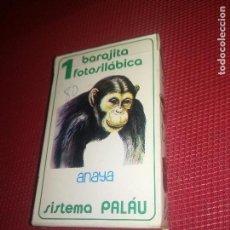 Barajas de cartas: BARAJITA FOTOSILABICA - ANAYA - FOURNIER - AÑO 1981 - NUEVA A ESTRENAR. Lote 151442325