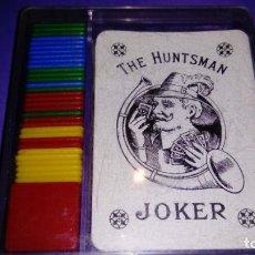 Barajas de cartas: THE HUNTSMAN - SET CON FICHAS - RETRO. Lote 151455686