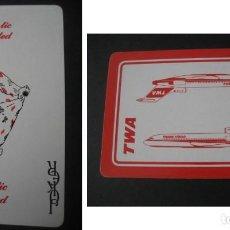 Barajas de cartas: JOKER Nº14. PUBLICIDAD LINEAS AEREAS TWA. Lote 151549278