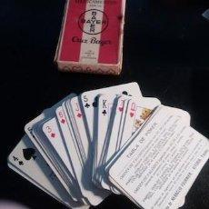 Barajas de cartas: BARAJA DE POKER CON PUBLICIDAD DE MEDICAMENTOS BAYER. Lote 151576406