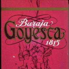 Barajas de cartas: BARAJA ESPAÑOLA-GOYESCA 1815- 50 CARTAS FOURNIER.- RARA. Lote 151595830