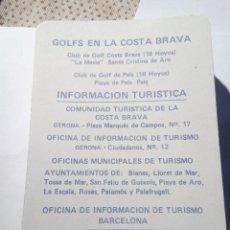 Barajas de cartas: JUEGO DE GOLF EN LA COSTA BRAVA. Lote 151853094